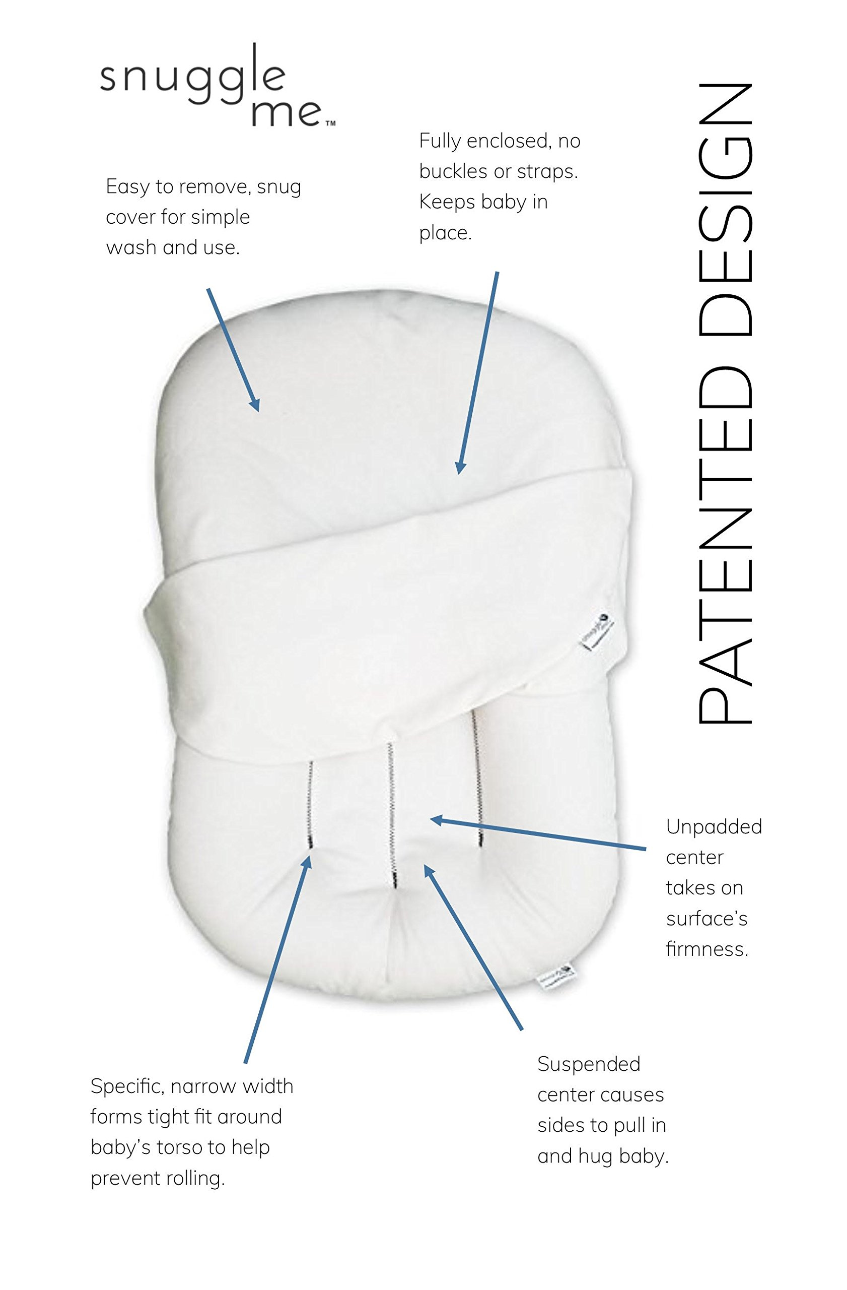 Image of the Snuggle Me Organic | Patented Sensory Lounger for Baby | organic cotton, virgin polyester fill
