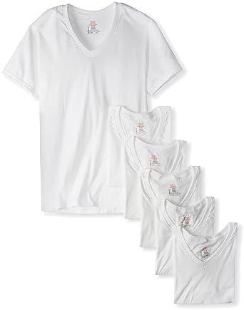 74f057c79 Hanes Ultimate Men's 6-Pack FreshIQ V-Neck Tee White at Amazon Men's  Clothing store: