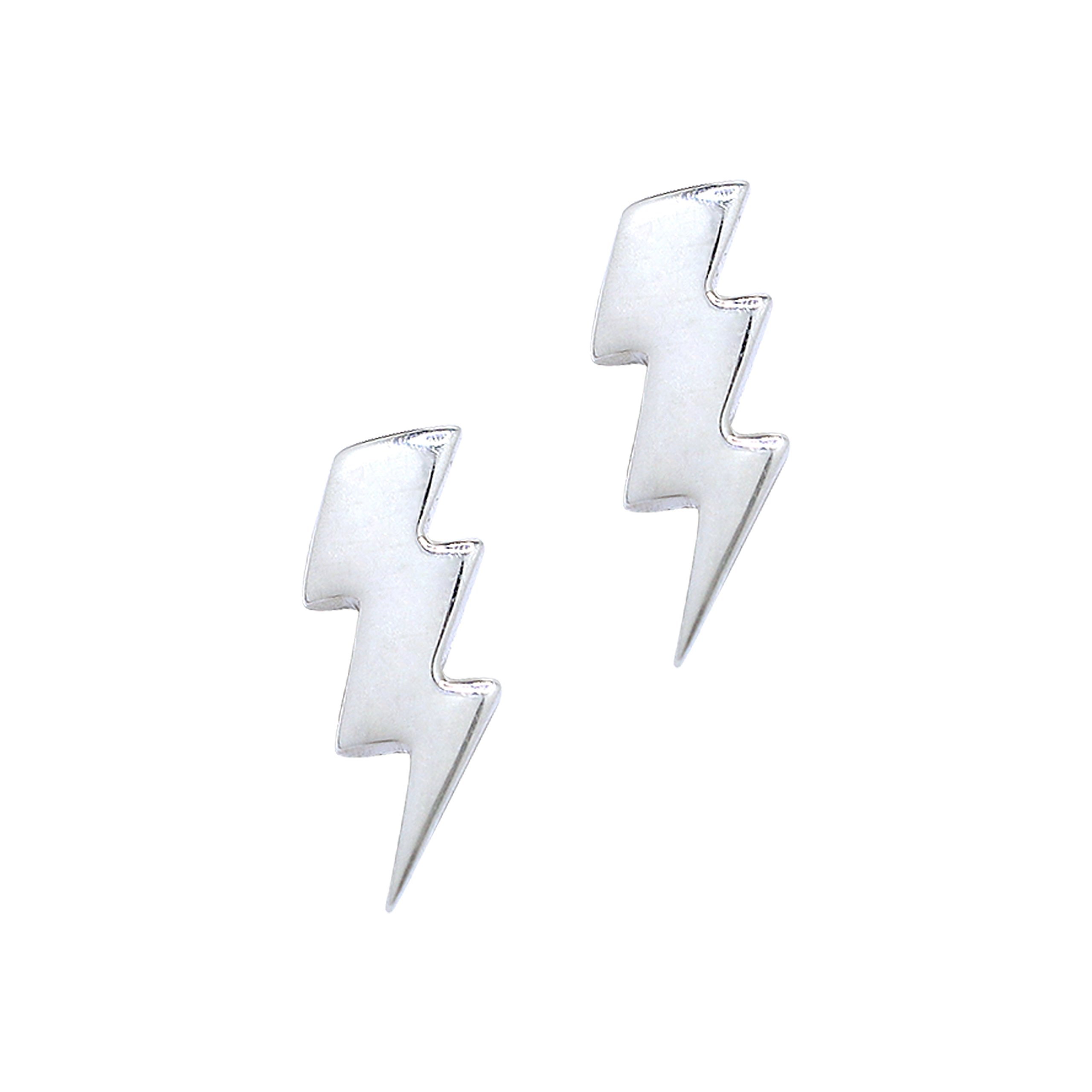 Boma Jewelry Sterling Silver Lightning Bolt Stud Earrings World Of Justice League