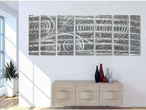 Statements2000 Abstract Extra Large Metal Art Panels 3D Indoor/Outdoor Wall Hanging Sculpture