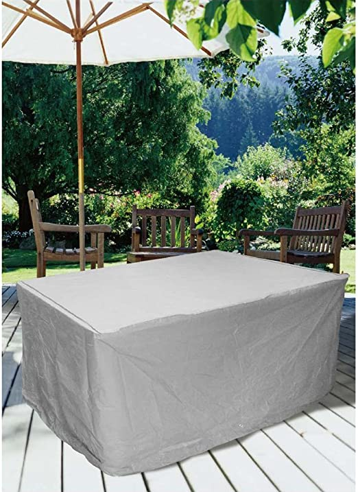Funda protectora para muebles de jardín con ojetes de metal, modelo cuadrado. Dimensiones: 230 x 135 x 80 cm.: Amazon.es: Jardín