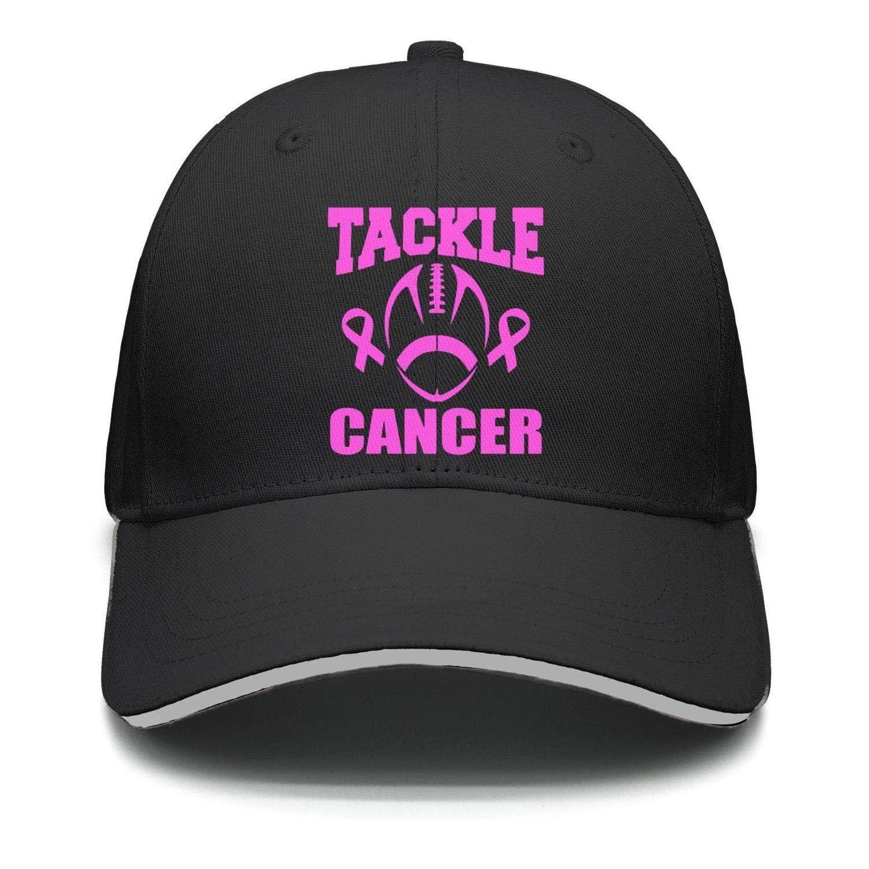 Fiexf Men Women Hiphop Hat Stronger Together Pink Ribbon Breast Cancer Awareness