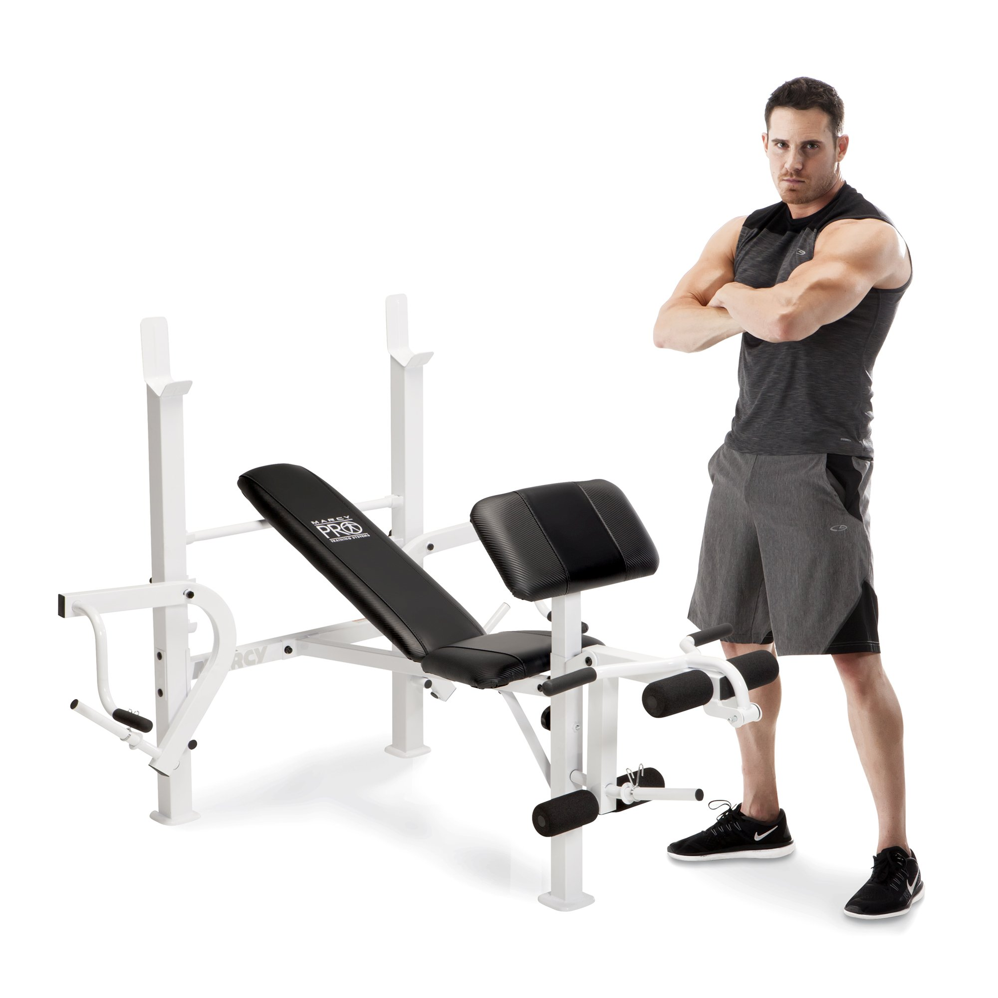 Marcy Diamond Elite Classic Multipurpose Home Gym Workout Lifting Weight Bench by Marcy Fitness