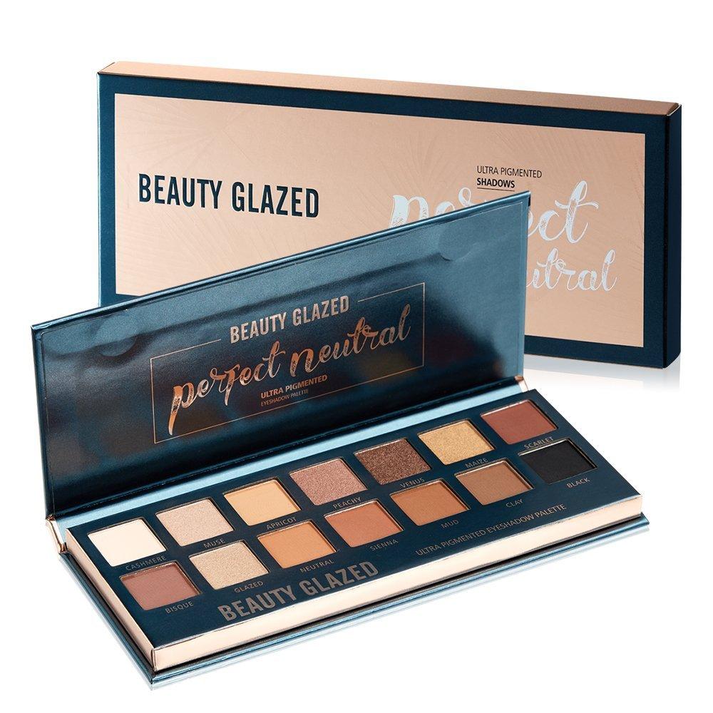 Beauty Glazed 14 Colors of Smokey Eyeshadow Palette Matte & Pigment Glitter Shimmer Makeup Contour Metallic Eyeshadow Palette
