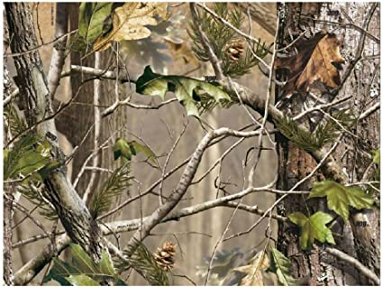 Realtree Blue Camo 1//4 or 1//2 Sheet Birthday Cake Topper Frosting Edible Icing