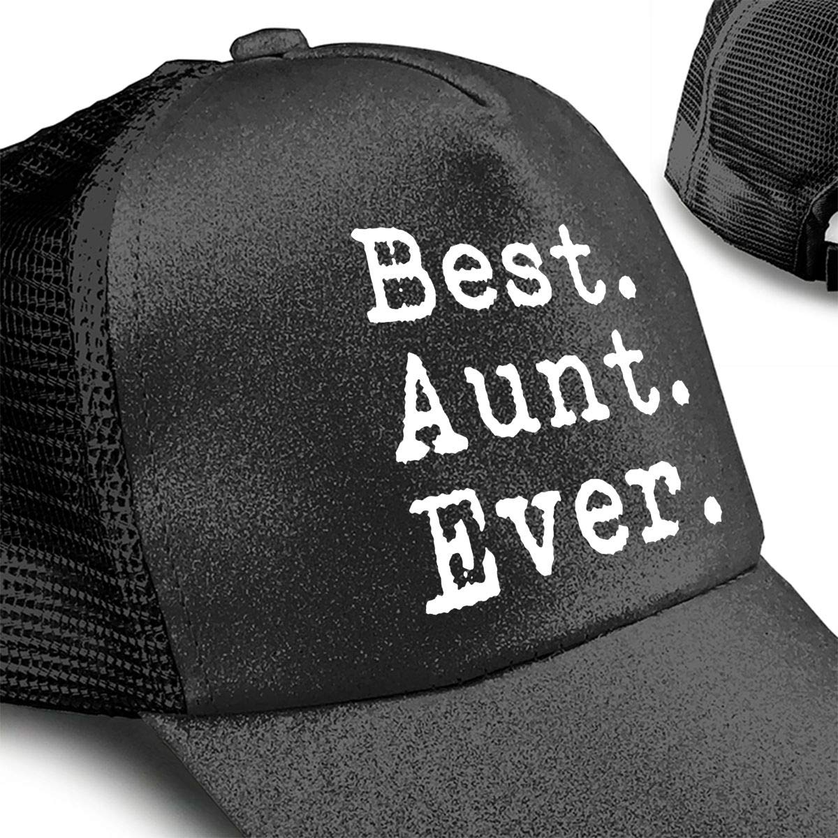 Best Aunt Ever Gift for Auntie from Nephew Or Niece Ponytail Messy High Bun Hat Ponycaps Baseball Cap Adjustable Trucker Cap Mesh Cap