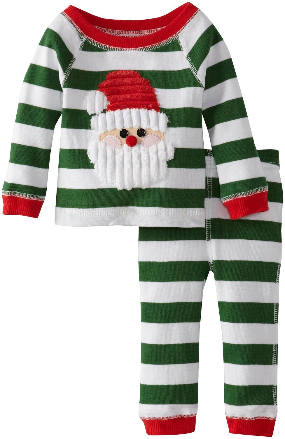 Amazon.com  Green Stripes Santa Lounge Set Mud Pie Infant or Toddler  Christmas Pajamas 12-18 months  Baby 893f403eb