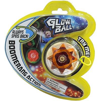 Prime Time Toys 2066 Glow Ball Light-Up Auto-Return Yo-Yo Toy: Toys & Games