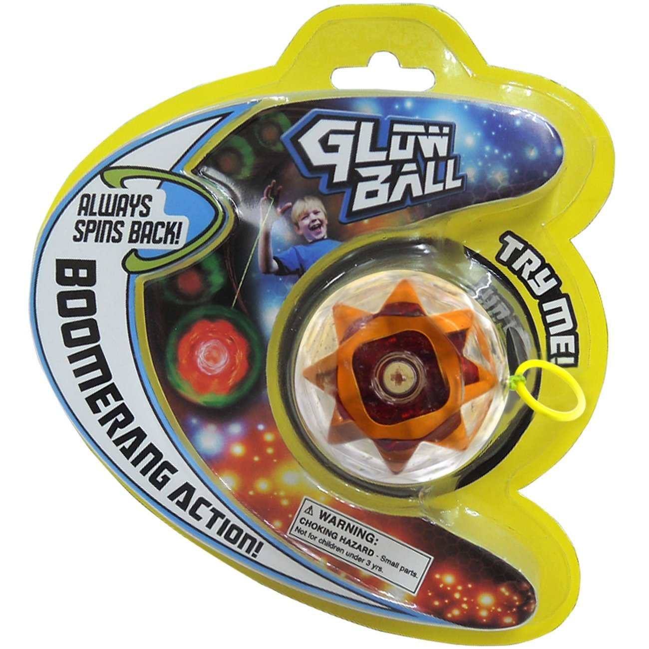 Prime Time Toys Glow Ball Light-Up Auto-Return YO-YO Toy