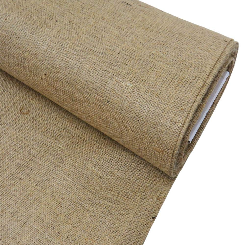 Burlap Fabric, 38-40 Inches Wide, Over 100 Yards in Stock- 100 Yards 100% Jute - Natural