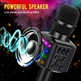 BONAOK Wireless Bluetooth Karaoke Microphone with