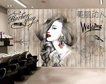 Yishuqiang Papier Peint Salon De Coiffure De Style Nordique