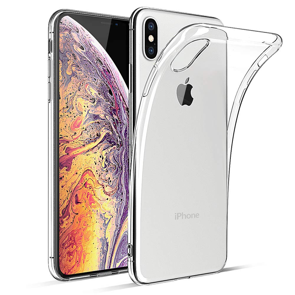 HiZiTi iPhone Xs Max Case, Thin Ultra-Slim Fit Crystal Clear Transparent Bumper Flexible TPU Phone Case Cover Compatible for iPhone Xs Max (6.5 inch) ...