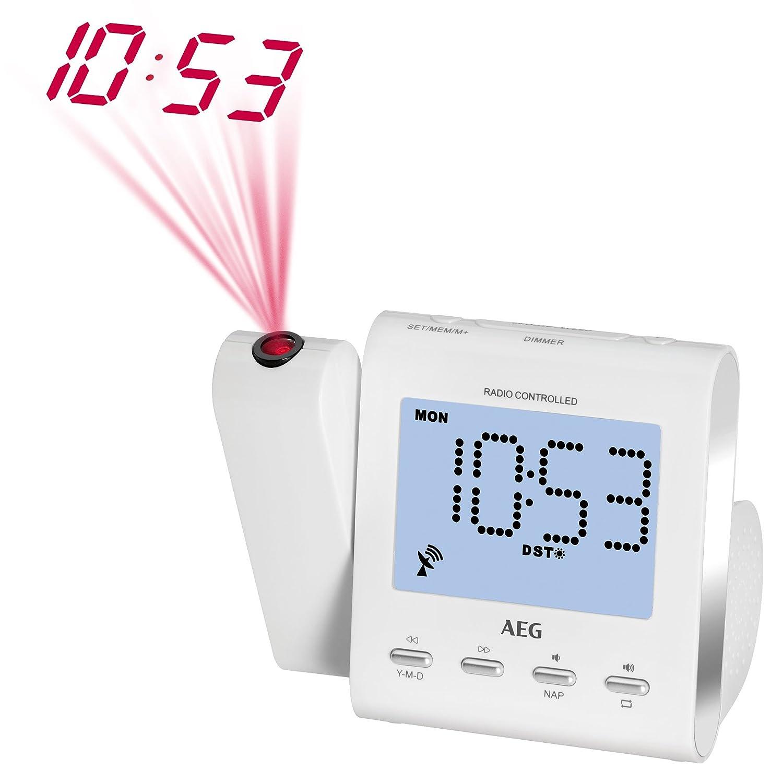 AEG MRC Radio Reloj 4122 F Radio con Blanco de proyección
