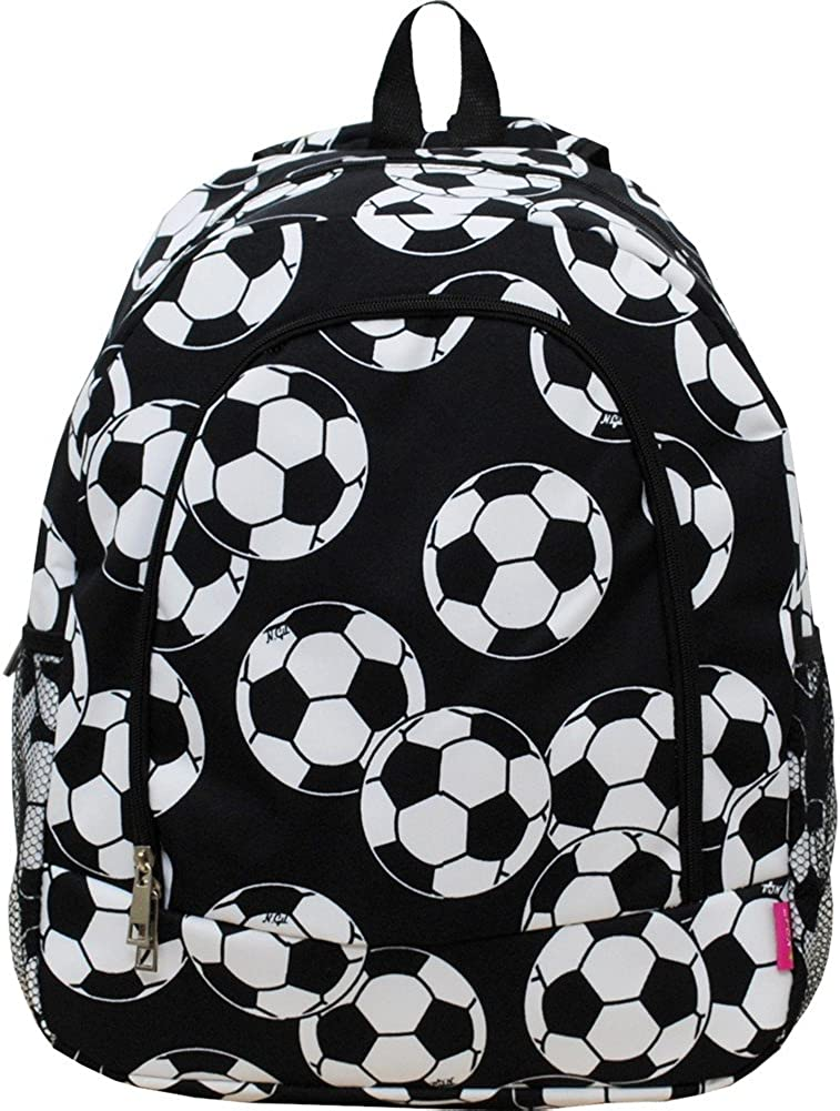 Ready to Ship Fully Lined Toddler Tote Bag Soccer Balls All Over Print on Black