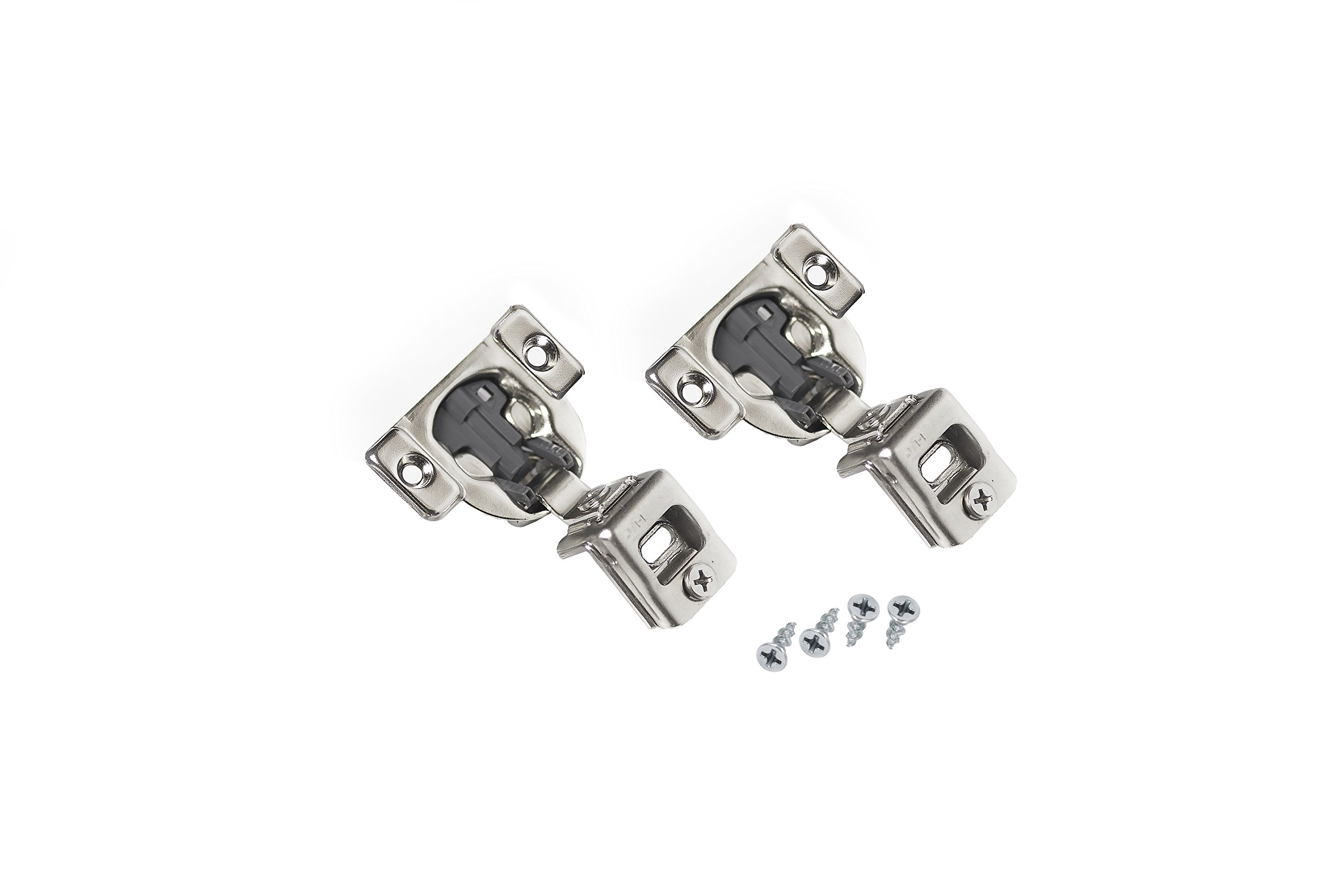 Comet Pro Hardware E55 1-1/4'' Compact Soft Close Face Frame Cabinet Door Hinges Full Overlay Nickel Plated, Screws are Included (40 Pack) by Comet Pro Hardware (Image #2)