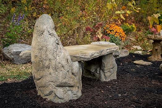Garden Bench Basalt Stone Boulder Bench