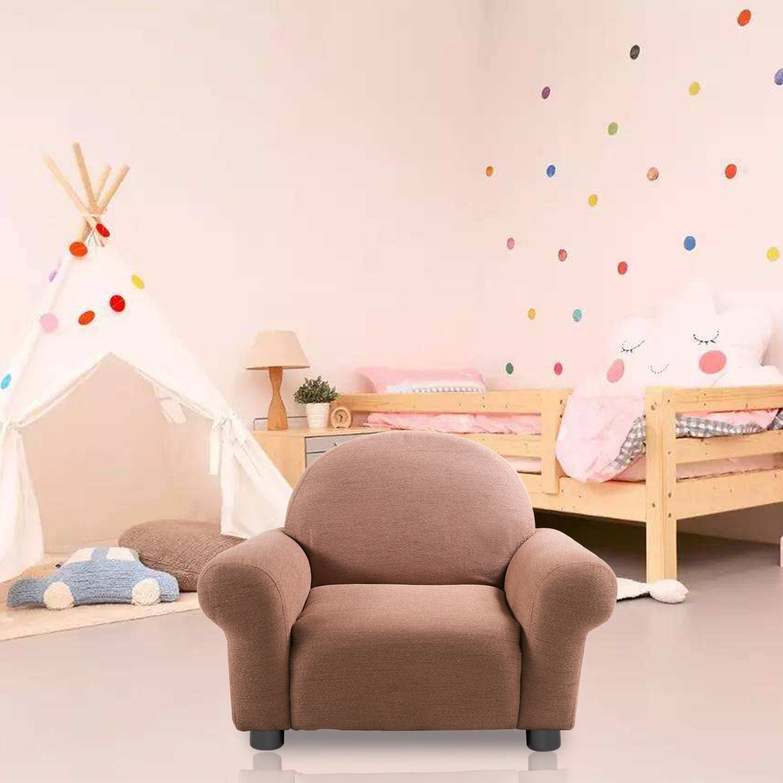 Harper&Bright Designs Roundy Kid's Sofa Chair (Brown)