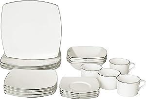 Mikasa Couture Platinum 20 Piece Dinnerware Set, Service for 4