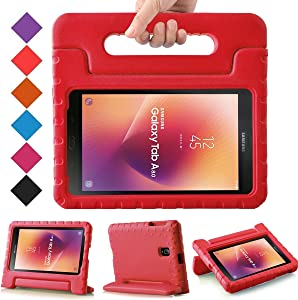 BMOUO Kids Case for Samsung Galaxy Tab A 8.0 2017 (SM-T385 / T380) - Light Weight Shockproof Protective Handle Stand Kids Case Cover for Samsung Galaxy Tab A 8.0 inch 2017 T380 T385 Tablet - Red