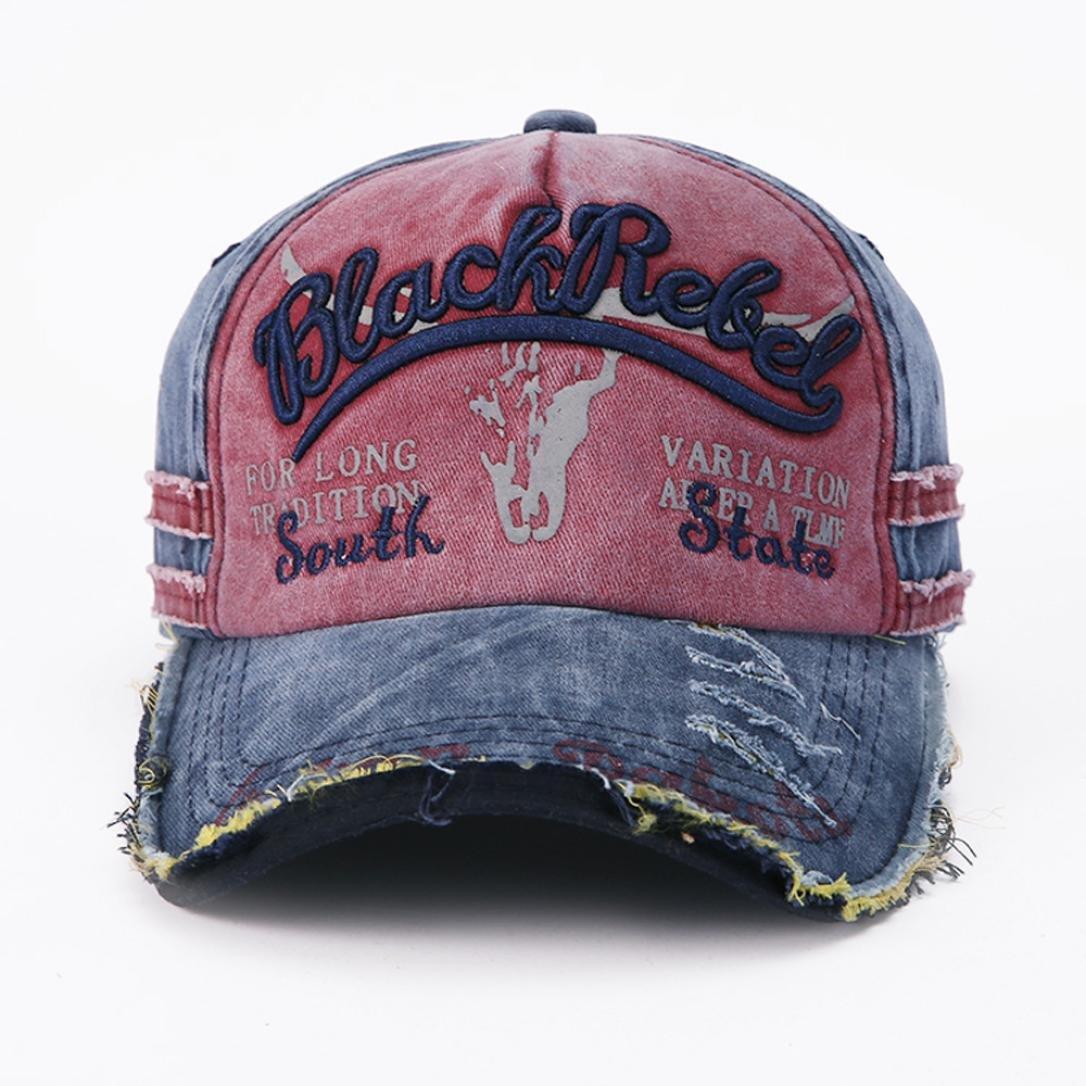 Lavany Men Womens Hats,Dad Hat Vintage Cotton Hip-hop Adjustable Baseball Cap Hats