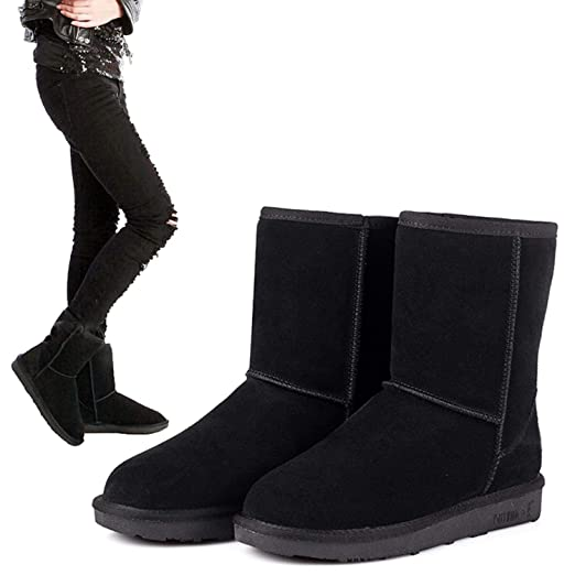 64710ce69ee5d Image Unavailable. Image not available for. Color  eshion Unisex Winter  Women Girls Ladys Mid Calf Warm Snow Boots Shoes