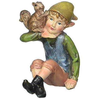 "Darice Q45140702A Mini Garden Pixie Boy, 1 of 4 Assorted Resin, 2"" x 3"": Home & Kitchen"