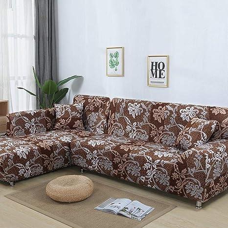 FENFANGAN Fundas para Sofa 2 Piezas Funda para Sofá En Forma ...