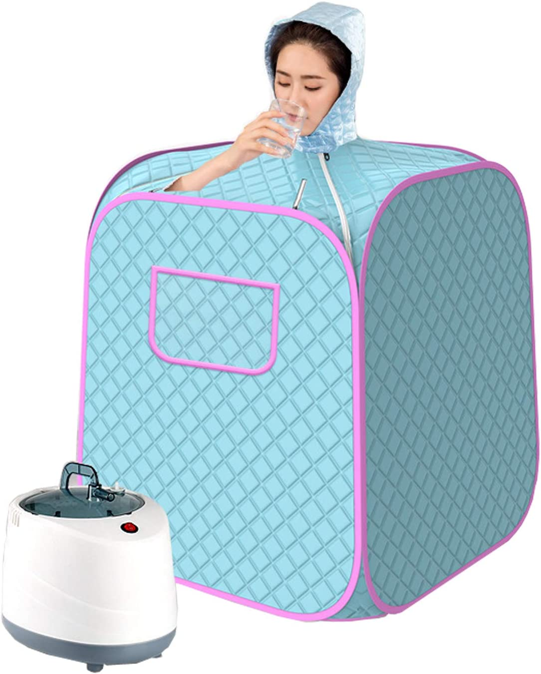 AnMoreH Home Spa Steam Sauna Kit, Person Full Body Portable Spa Sauna Hat Tent for Body Relaxation, 2L Portable Light Sauna with Remote Control, Timer