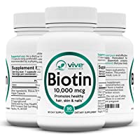 Vive Essentials Biotin for Hair Growth (3 Month Supply) - 10000mcg B7 Thinning Hair...