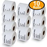 """BETCKEY - Compatible DYMO 30324 (2-1/8"""" x 2-3/4"""") Veterinary Diskette Media Perforated Labels, Compatible with Rollo, DYMO 4XL & Zebra Desktop Printers[10 Rolls/4000 Labels]"""
