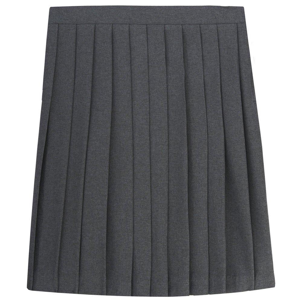 French Toast Big Girls' Pleated Skirt, Grey, 8