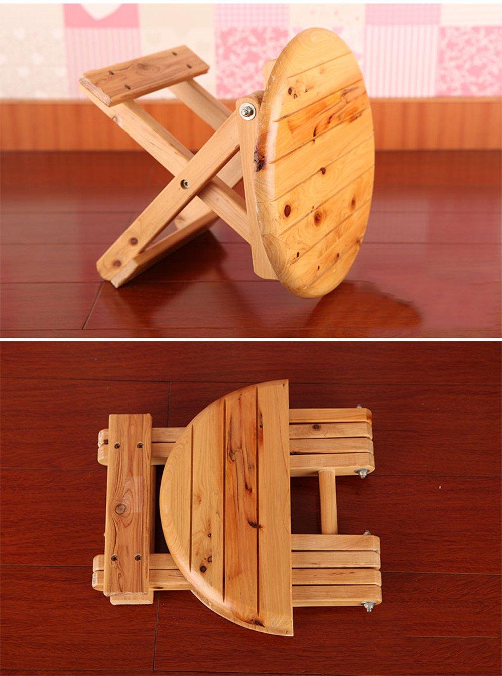 Folding Stool, Folding Small Bench, Solid Wood Stool, Non-plastic Stool, Fishing Stool, Children's Stool by PM-Folding Stools (Image #4)