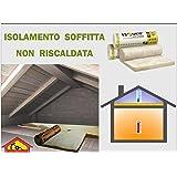 Lana minerale isolante ROTOLO mq.15,60 isolamento termico coibent solaio soffitto
