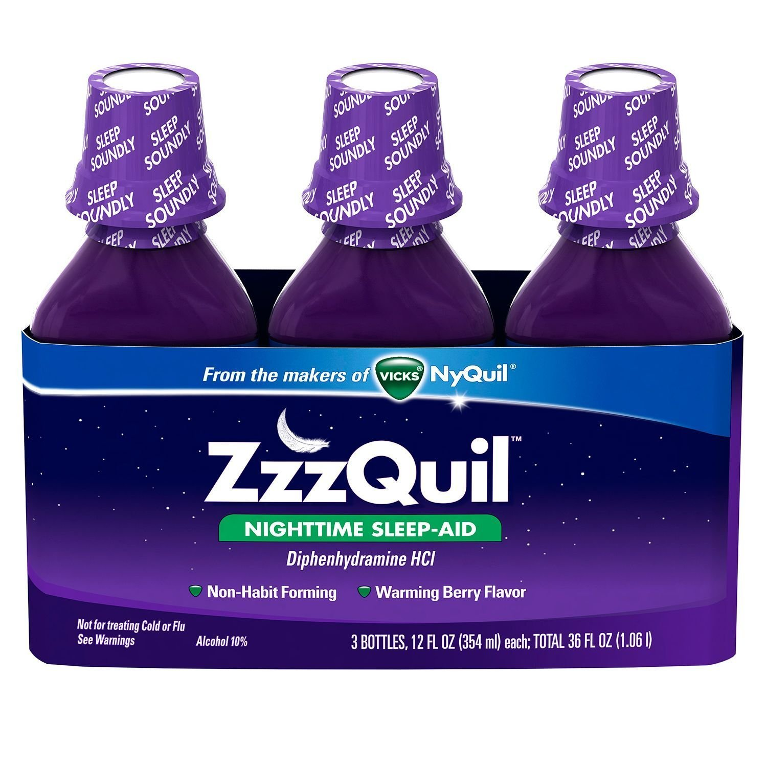 ZzzQuil Nighttime Sleep-Aid - Berry Flavor - 12 fl. oz - 3 pk.