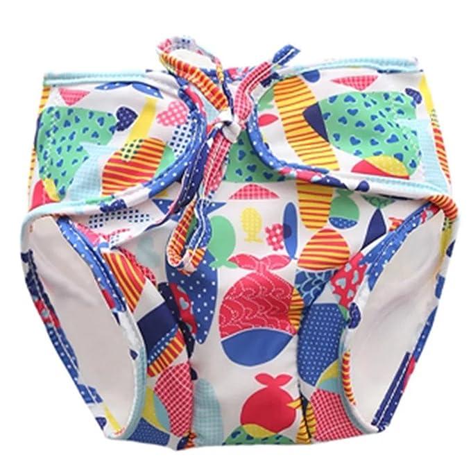 Zerci pañales de baño reutilizables, ajustables y con estilo adapta el pañal para regalos de