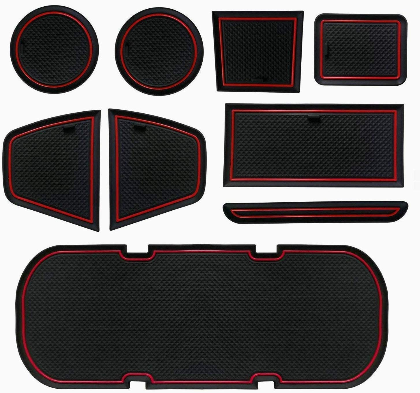 Auovo Anti-dust Door Mats for 2019 2018 2017 2016 2015 2014 2013 Subaru BRZ Toyota 86 Scion FR-S Door Pocket Liners Cup Pads Console Mats Interior Accessories 8 pcs,White