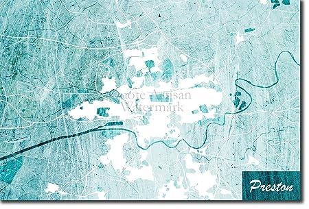 Preston England Map.The Pop Culture King Preston England United Kingdom Uk Original