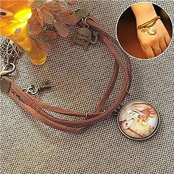 4a9ebf8f3223 Amazon.com  - Seeking girl jewelry and bronze bracelet gemstone deer ...