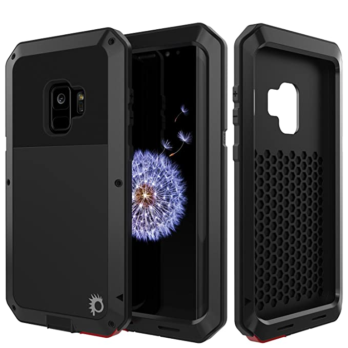 hot sale online 5aaee 46a0e Galaxy S9 Metal Case, Heavy Duty Military Grade Rugged Armor Cover [Shock  Proof] Hybrid Full Body Hard Aluminum & TPU Design [Non Slip] W/Prime Drop  ...