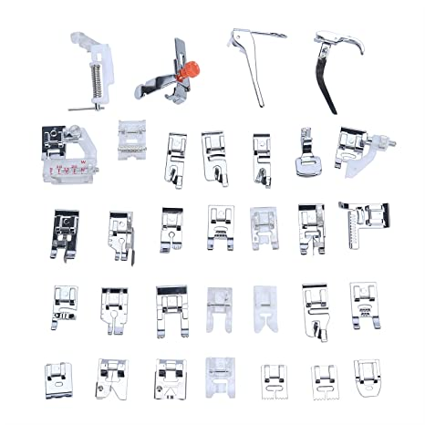 Amazon.com: Leegoal 32Pcs Sewing Machine Presser Foot Set For Janome Brother Domestic Part US