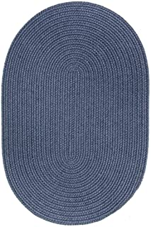 product image for Rhody Rug Woolux Wool Oval Braided Rug (5' x 8') - 5' x 8' Oval Blue