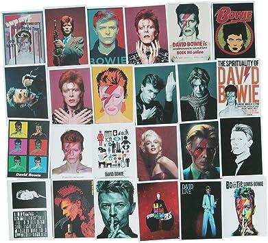 David Bowie Stickers Packs of 3 6 or 9 Die Cut Laptop /& Water Bottle Stickers