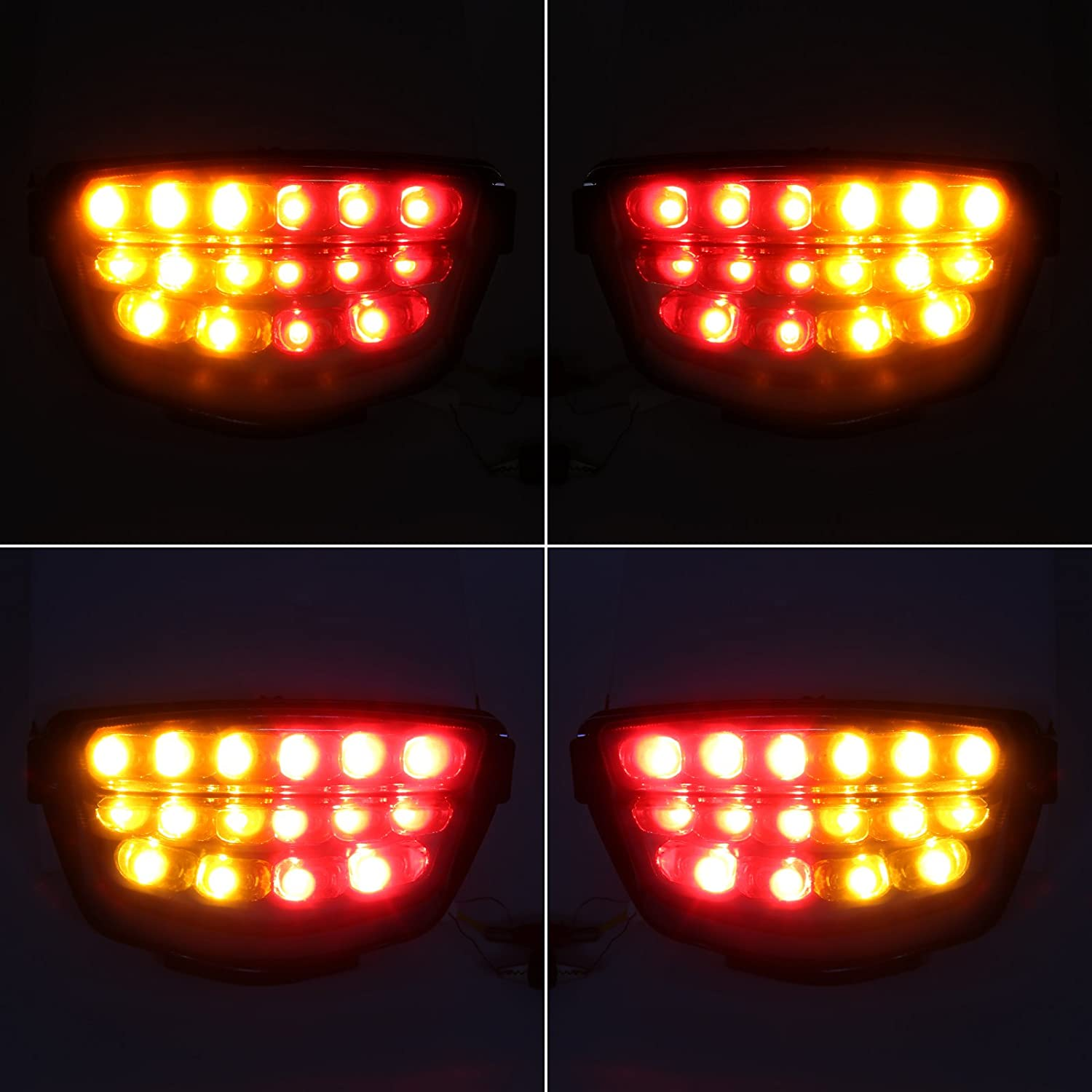 LED Intergrated Sequential Tail Light Smoke Lens for Honda CBR 1000RR 2008-2016