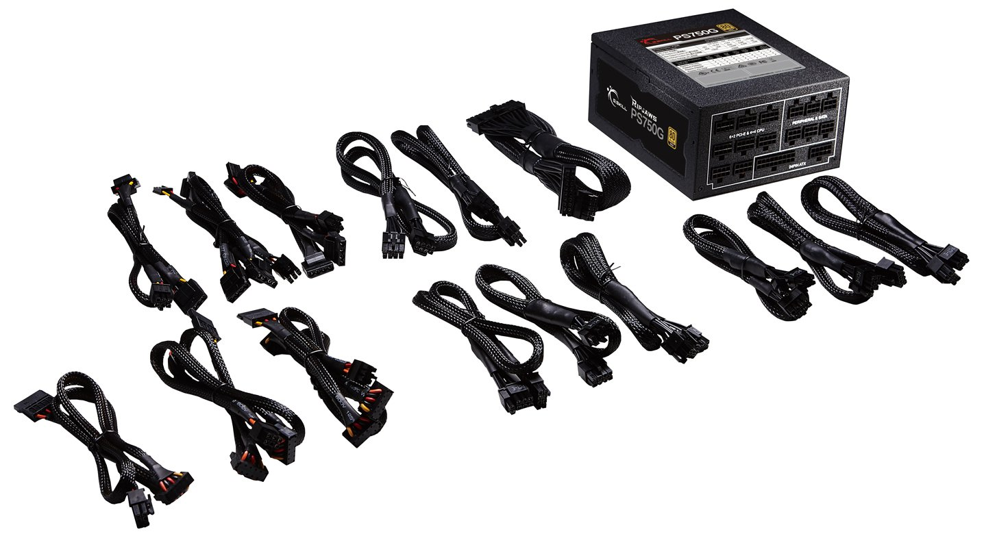 G.Skill GP-GD750A-CWV1 Ripjaws PS750G 750W 80+ Gold Full Modular Intel/AMD Ready Gaming PC ATX 12V Power Supply