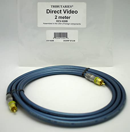 Tributaries Direct Video 2 meter Composite vidideo/digital coaxial cable DCV-020