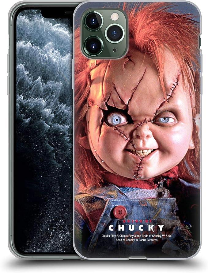 Head Case Designs Offizielle Bride Of Chucky Puppe Schluessel Kunst Soft Gel Handyhülle Hülle Huelle Kompatibel