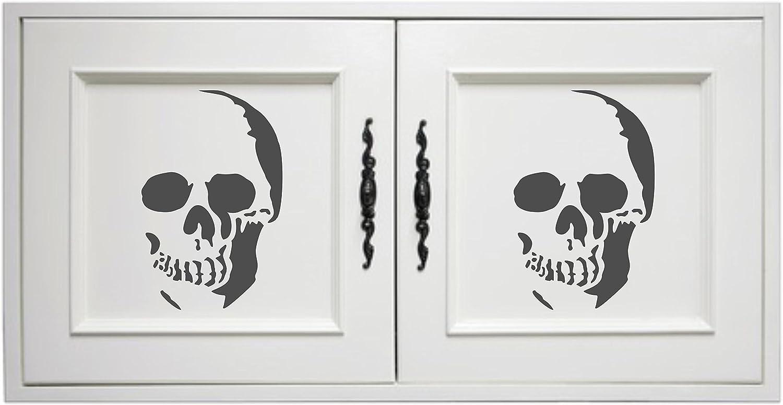 Skull stencil/ s /riutilizzabili Halloween giorno dei morti spaventoso di Tattoo tribale stencil da/ /da usare su carta progetti scrapbook Journal muri pavimenti tessuto mobili in vetro legno ecc