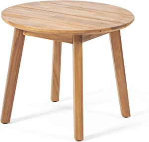 Christopher Knight Home 312397 Alima Outdoor Side Table, Teak Finish