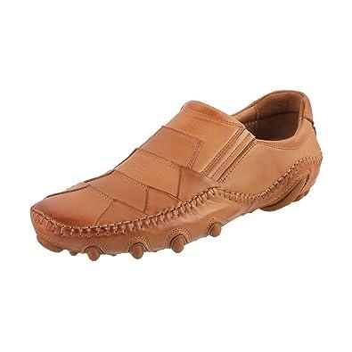 Metro Mens Tan Leather Loafers 7 Ukinida41 Eu 14 9639 23 41